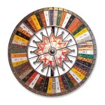 VERY GRAPHIC AND COLORFUL GAME WHEEL, FAIR SUPPLY COMPANY, LATE 19TH/EARLY 20TH CENTURY
