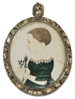 JUSTUS DALEE | MINIATURE PORTRAIT OF FREDERICK H. WASTE