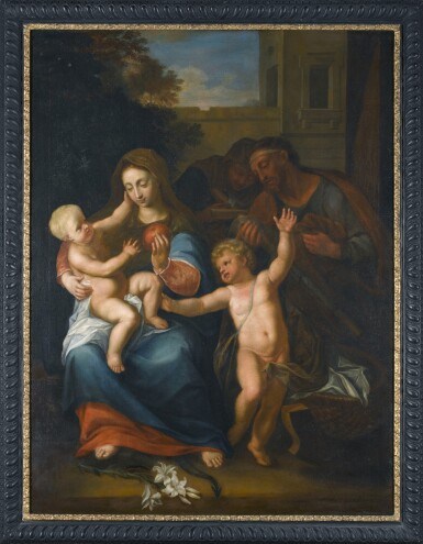 View 2. Thumbnail of Lot 280. PIETER VAN DER WERFF | THE VIRGIN AND CHILD, WITH THE INFANT SAINT JOHN THE BAPTIST AND SAINT ANNE.