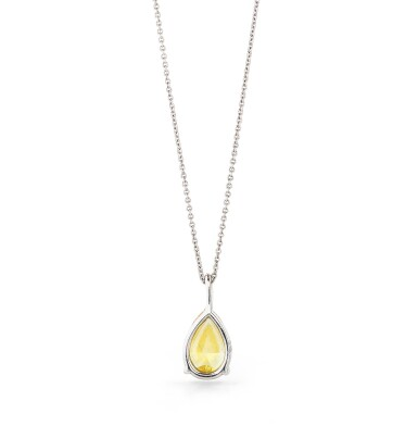 View 3. Thumbnail of Lot 124. COLLIER DIAMANT FANCY DEEP ORANGY YELLOW |  FANCY DEEP ORANGY YELLOW DIAMOND NECKLACE.