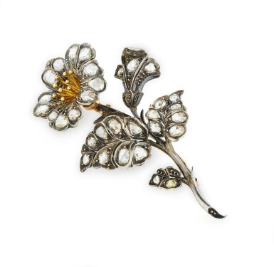 View 3. Thumbnail of Lot 1. BROCHE TREMBLEUSE DIAMANTS | DIAMOND BROOCH, 'EN TREMBLANT' .