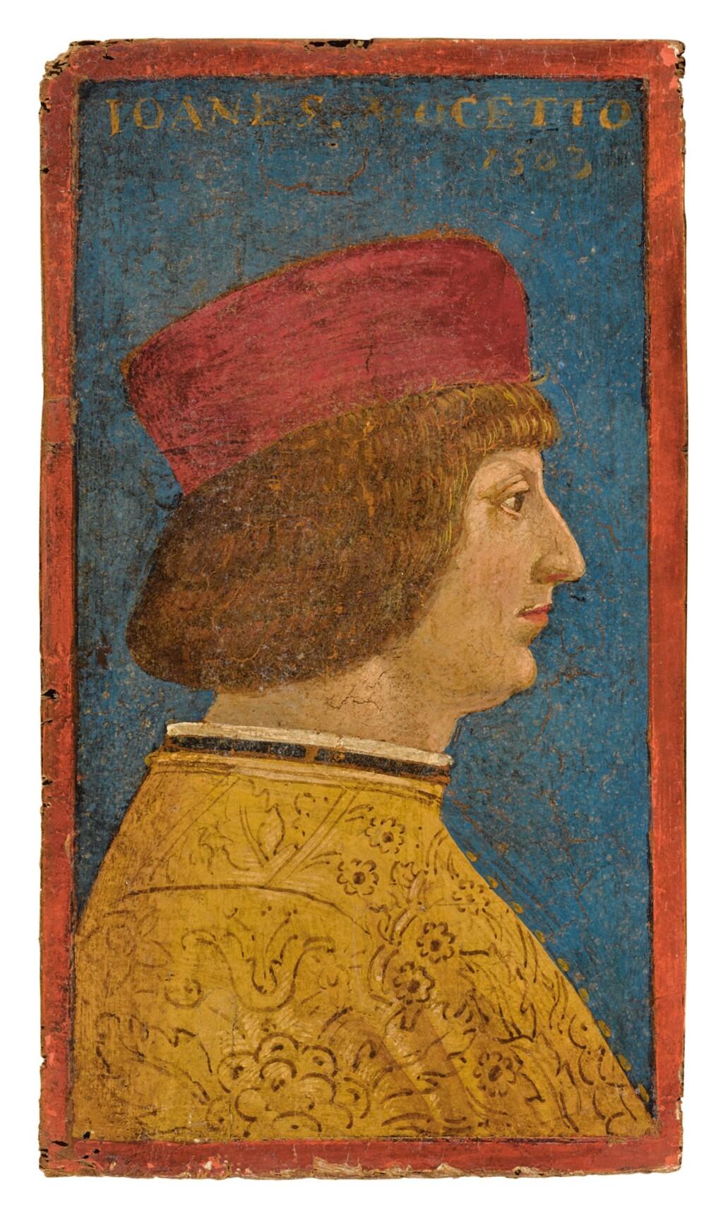 LOMBARD SCHOOL, CIRCA 1500   PORTRAIT OF A MAN IN PROFILE, SAID TO BE GIOVANNI MOCETTO