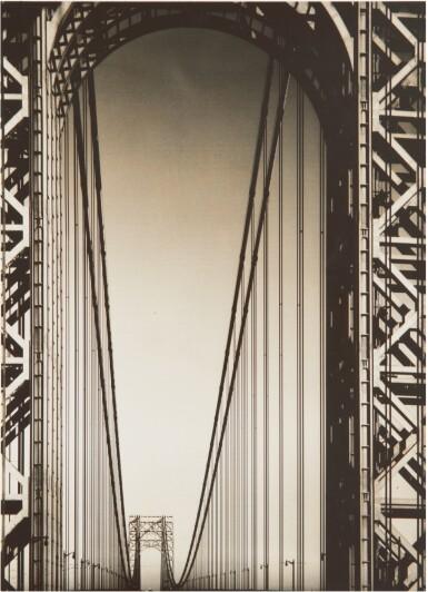 View 1. Thumbnail of Lot 88. MARGARET BOURKE-WHITE | GEORGE WASHINGTON BRIDGE.
