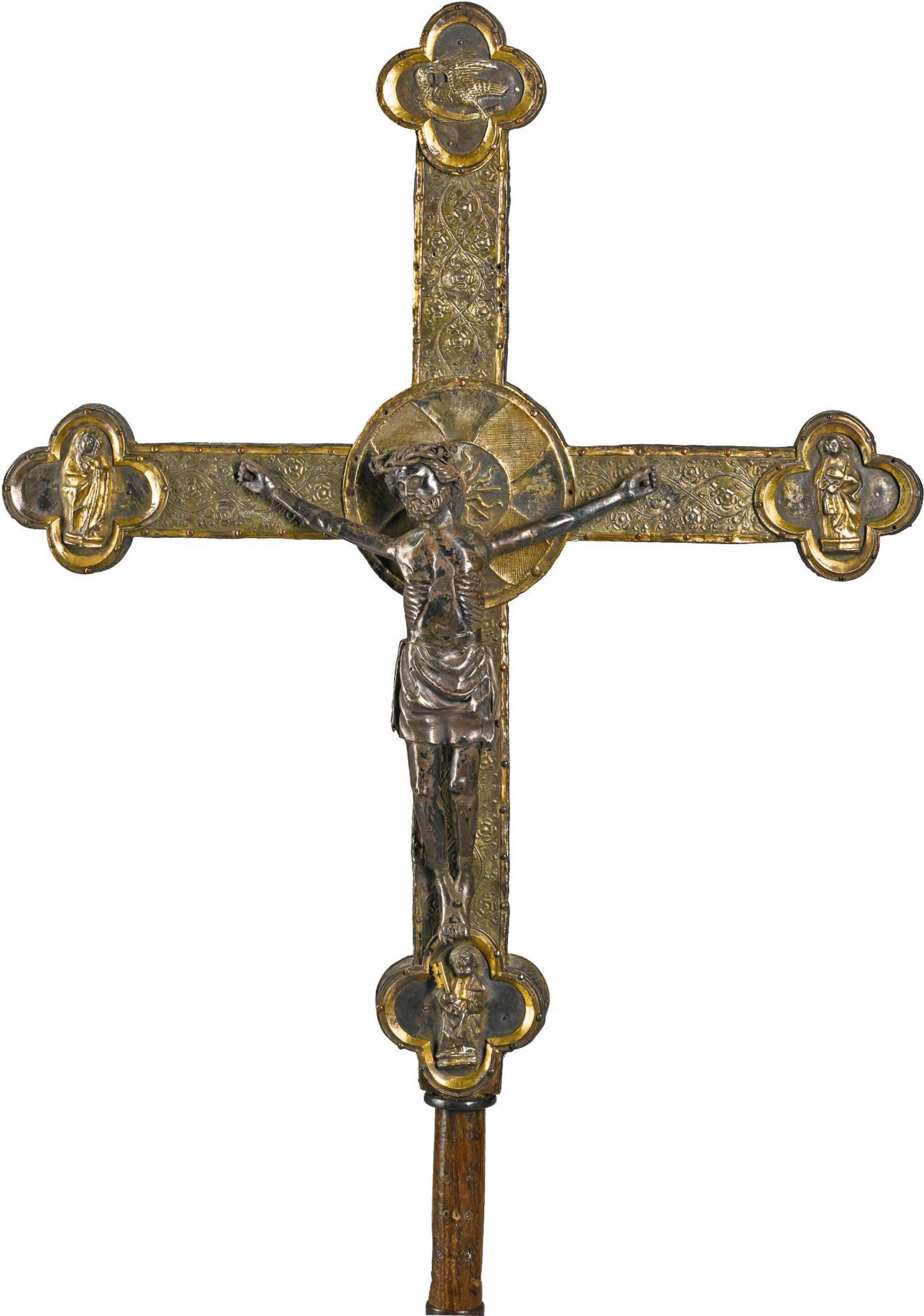 ITALIAN, 15TH CENTURY AND LATER | PROCESSIONAL CROSS WITH THE CRUCIFIED CHRIST