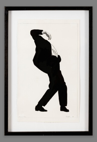 View 4. Thumbnail of Lot 107. Study for Eric (i); Untitled (ii) (from the series Men in the Cities)     .