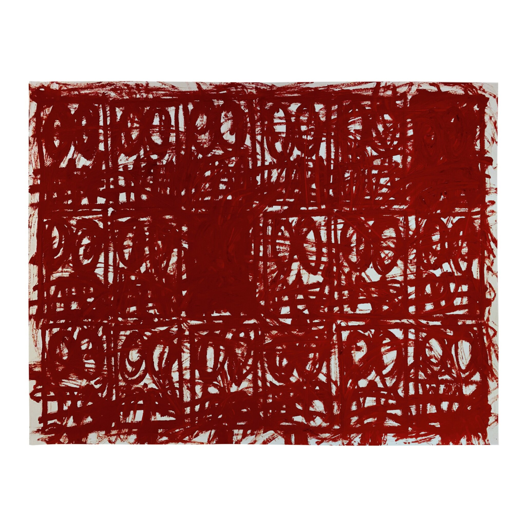 View full screen - View 1 of Lot 211. RASHID JOHNSON  | UNTITLED ANXIOUS RED DRAWING .