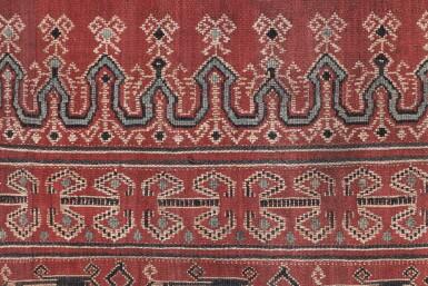 View 3. Thumbnail of Lot 6. Un textile cérémoniel pua et trois nattes, Indonésie | A ceremonial cloth pua and three mats, Indonesia.