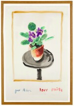 DAVID HOCKNEY, R.A. | AFRICAN VIOLETS (FOR ANN), FEBRUARY 2002