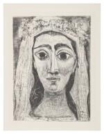PABLO PICASSO | JACQUELINE EN MARIÉE, DE FACE. I (NOT IN BLOCH; BA. 1089)