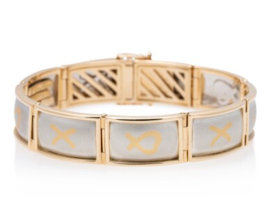 View 2. Thumbnail of Lot 4. TIFFANY & CO. | GOLD AND PLATINUM BRACELET.
