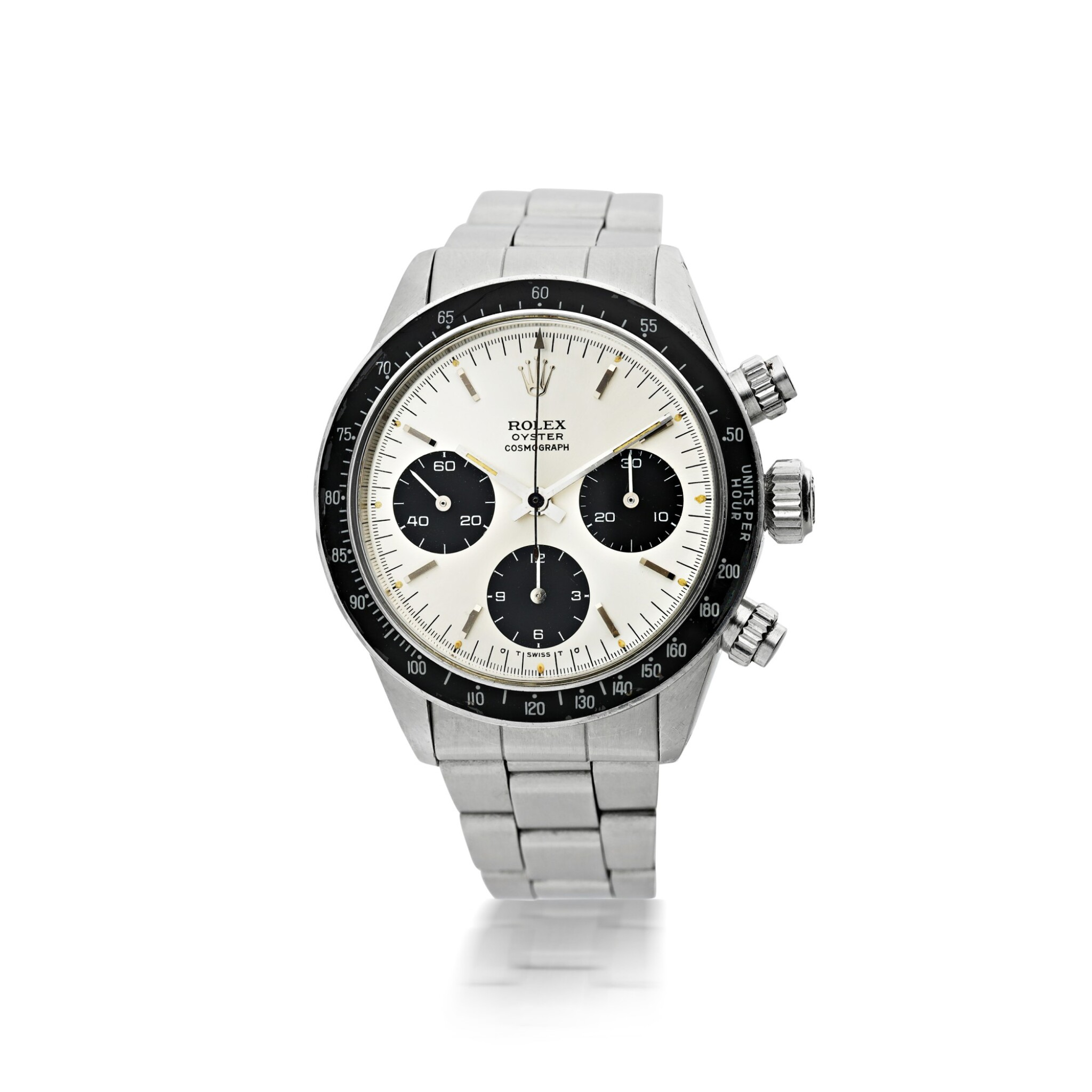 View full screen - View 1 of Lot 3. ROLEX | REFERENCE 6263 DAYTONA 'SIGMA DIAL'   A STAINLESS STEEL CHRONOGRAPH WRISTWATCH WITH BRACELET, CIRCA 1974.