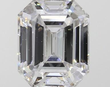 A 3.35 Carat Emerald-Cut Diamond, D Color, VS2 Clarity