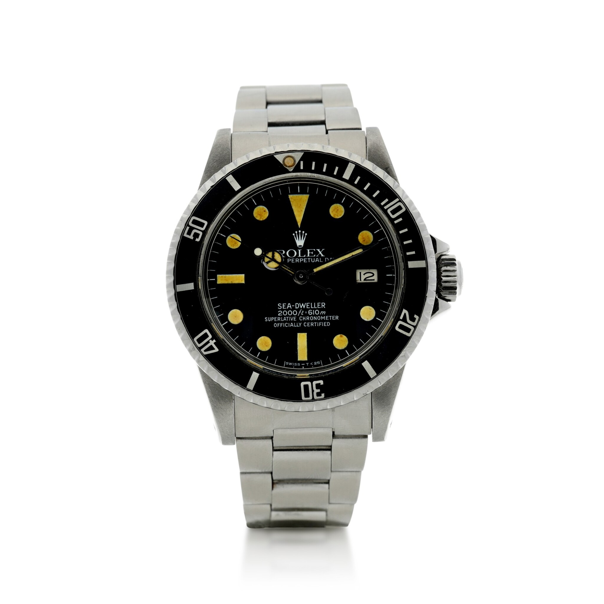 View full screen - View 1 of Lot 110. ROLEX   REFERENCE 1665 SEA-DWELLER 'GREAT WHITE' A STAINLESS STEEL AUTOMATIC WRISTWATCH WITH DATE AND BRACELET, CIRCA 1980.