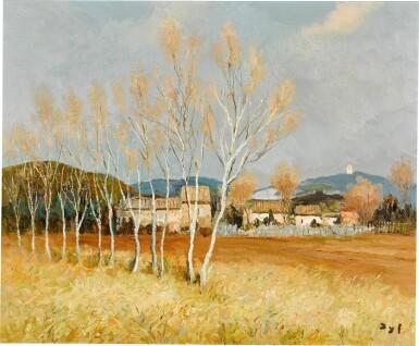 View 1. Thumbnail of Lot 63. Peupliers en Provence à Maussane.