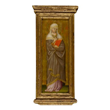 View 1. Thumbnail of Lot 102. MICHELE DI MATTEO DA BOLOGNA | A FEMALE SAINT.