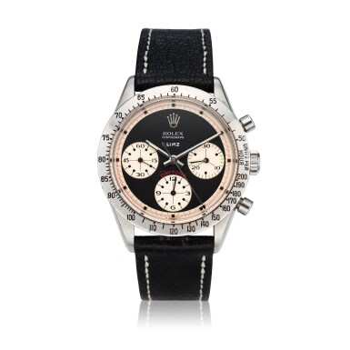 View 1. Thumbnail of Lot 280. Reference 6239 'Paul Newman' Daytona  Retailed by Linz Brothers: A stainless steel chronograph wristwatch, Circa 1968 .