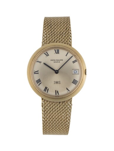 PATEK PHILIPPE | IOS, REF 3565/1 YELLOW GOLD BRACELET WATCH WITH DATE MADE IN 1968