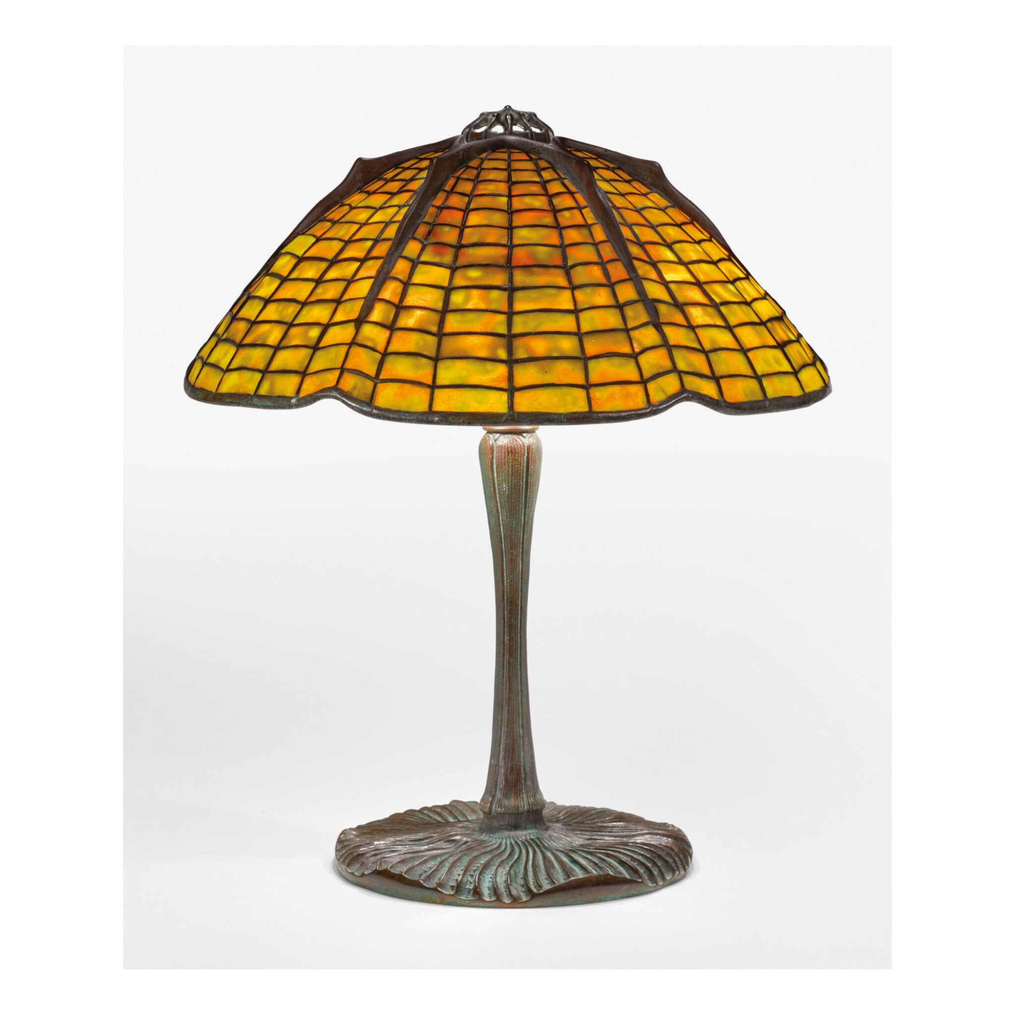 "View full screen - View 1 of Lot 3. TIFFANY STUDIOS | ""SPIDER"" TABLE LAMP."