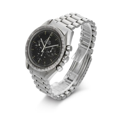 View 2. Thumbnail of Lot 203. 'ORIGINAL MOONWATCH' SPEEDMASTER REFERENCE 105'012-66   STAINLESS STEEL CHRONOGRAPH WRISTWATCH WITH REGISTERS, CIRCA 1966 .