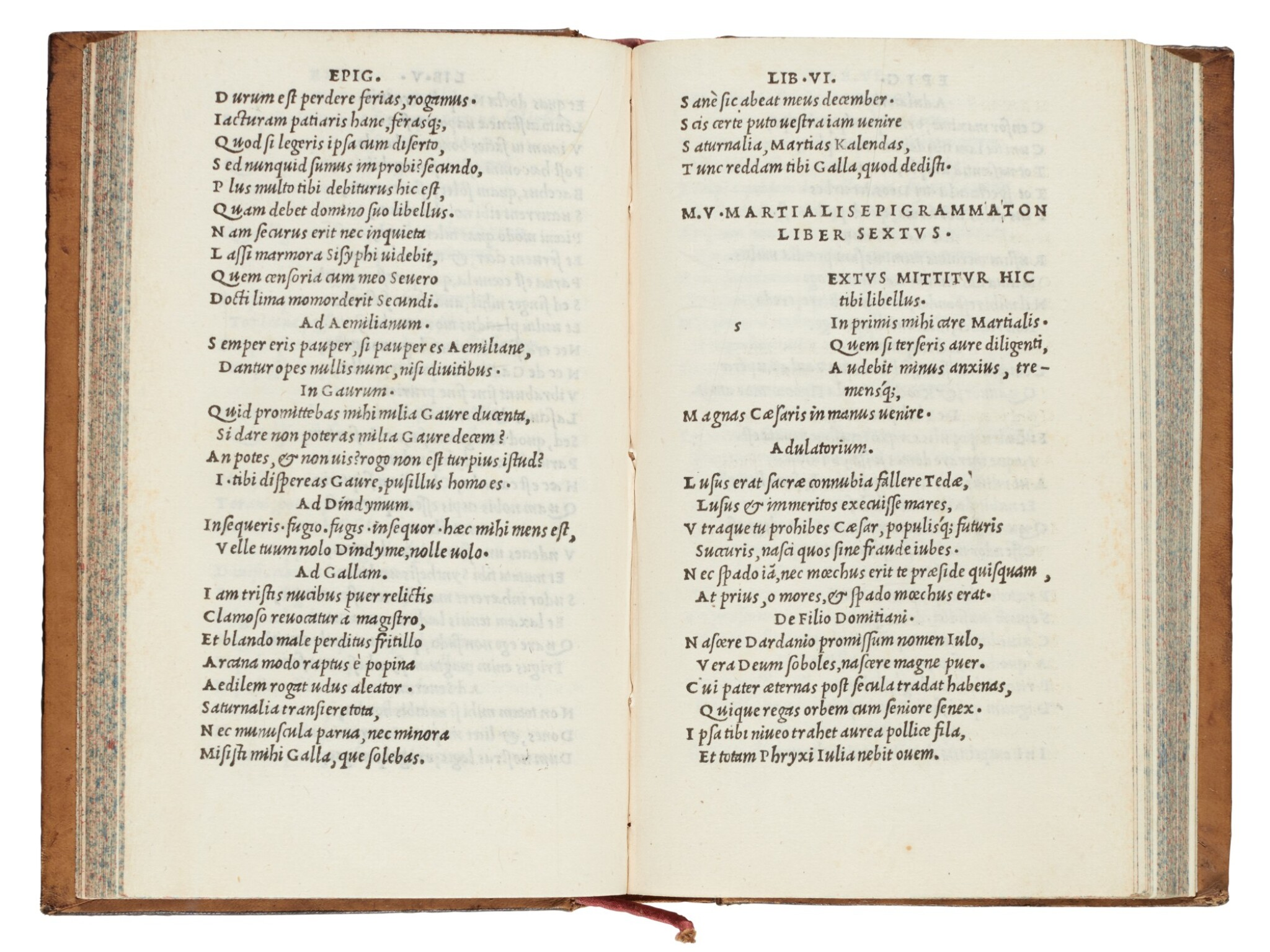 View full screen - View 1 of Lot 178. Martialis, Epigrammata, Venice, Aldus, 1501, mottled calf.