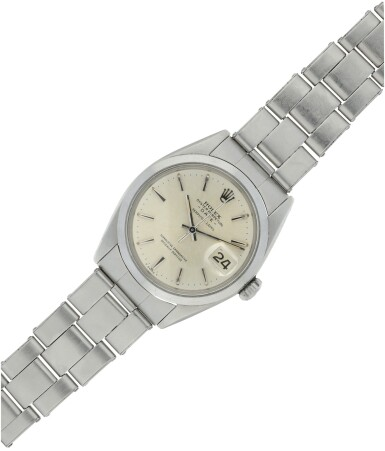 View 6. Thumbnail of Lot 552. ROLEX  |  REFERENCE 1500 DATE  RETAILED BY SERPICO Y LAINO: A STAINLESS STEEL AUTOMATIC WRISTWATCH WITH DATE AND BRACELET, CIRCA 1965.