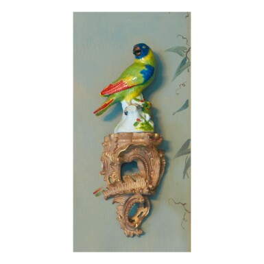 View 4. Thumbnail of Lot 206. A MEISSEN FIGURE OF A PARROT, CIRCA 1745.