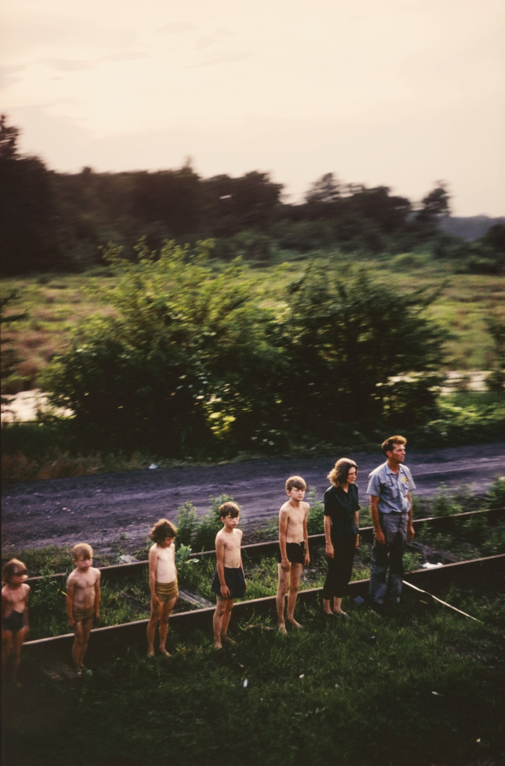 View full screen - View 1 of Lot 30. PAUL FUSCO | 'RFK FUNERAL TRAIN - REDISCOVERED'.