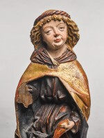 ATTRIBUTED TO THE WORKSHOP OF MICHAEL PACHER (CIRCA 1435-1498), AUSTRIAN, TYROL, LATE 15TH CENTURY | RELIEF OF A MALE SAINT, POSSIBLY SAINT JOHN