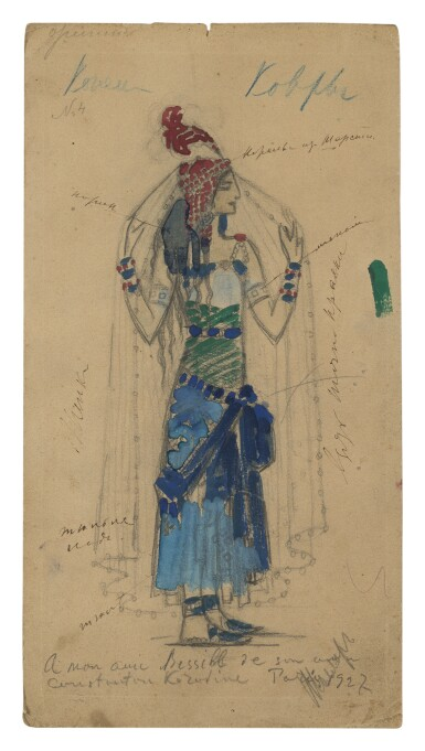 View 1. Thumbnail of Lot 61. KONSTANTIN ALEXEEVICH KOROVIN AND STUDIO | COSTUME DESIGN FOR PRINCE IGOR.