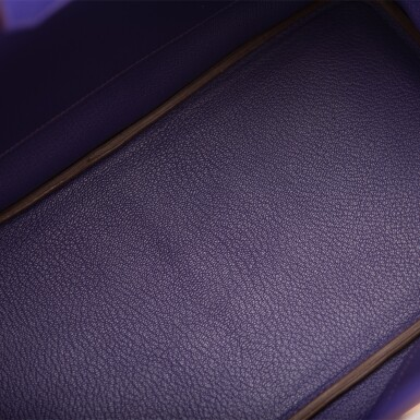 View 8. Thumbnail of Lot 19. Hermès Iris Birkin 35cm of Togo Leather with Gold Hardware.