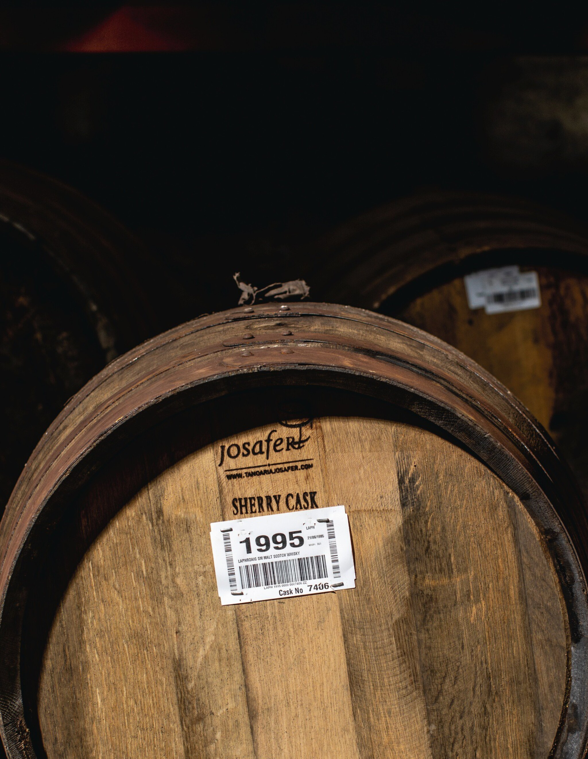 View full screen - View 1 of Lot 290. FIRST FILL OLOROSO SHERRY CASK OF LAPHROAIG 1995.