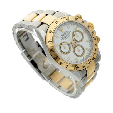 View 3. Thumbnail of Lot 11. Reference 116523 Daytona A stainless steel and yellow gold automatic chronograph wristwatch with bracelet, Circa 2002 .