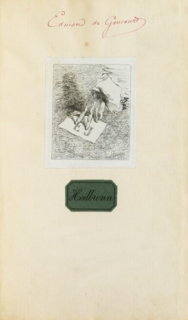 View 3. Thumbnail of Lot 177. La Chartreuse de Parme. 1839. 2 vol., percaline rouge. E.O. Ex des Goncourt. Lettre jointe de Stendhal.