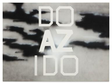 View 1. Thumbnail of Lot 17. ED RUSCHA | DO AZ I DO.