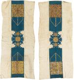 A RARE PAIR OF 'ARID' (WALL HANGINGS), CHECHAOUEN, MOROCCO, MID-19TH CENTURY OR EARLIER