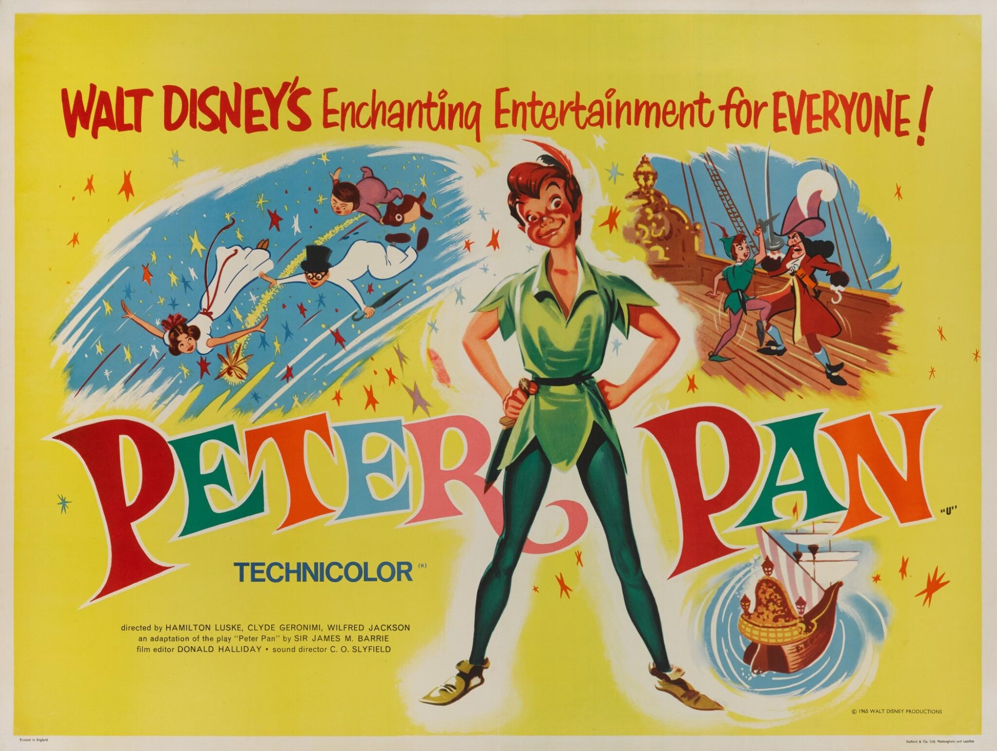View full screen - View 1 of Lot 26. PETER PAN (1953) POSTER, BRITISH.
