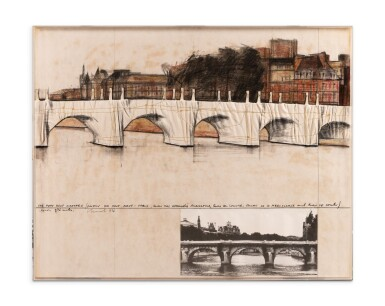View 2. Thumbnail of Lot 112. The Pont Neuf Wrapped (Project for Pont Neuf, Paris)     .