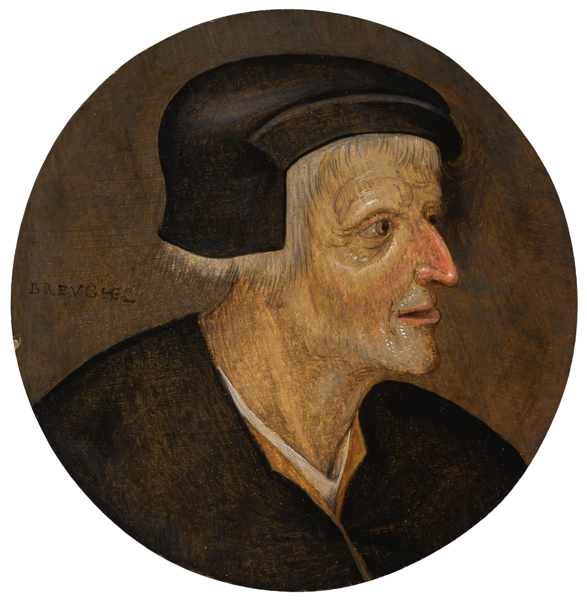 PIETER BRUEGHEL THE YOUNGER | Head of a peasant, wearing a black cap