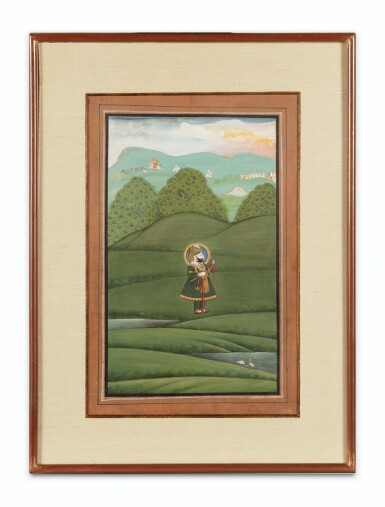 View 4. Thumbnail of Lot 68. RAJASTHAN, MEWAR, LATE 18TH CENTURY AND EARLY 19TH CENTURY | FOUR PORTRAITS OF INDIAN DIGNITARIES.
