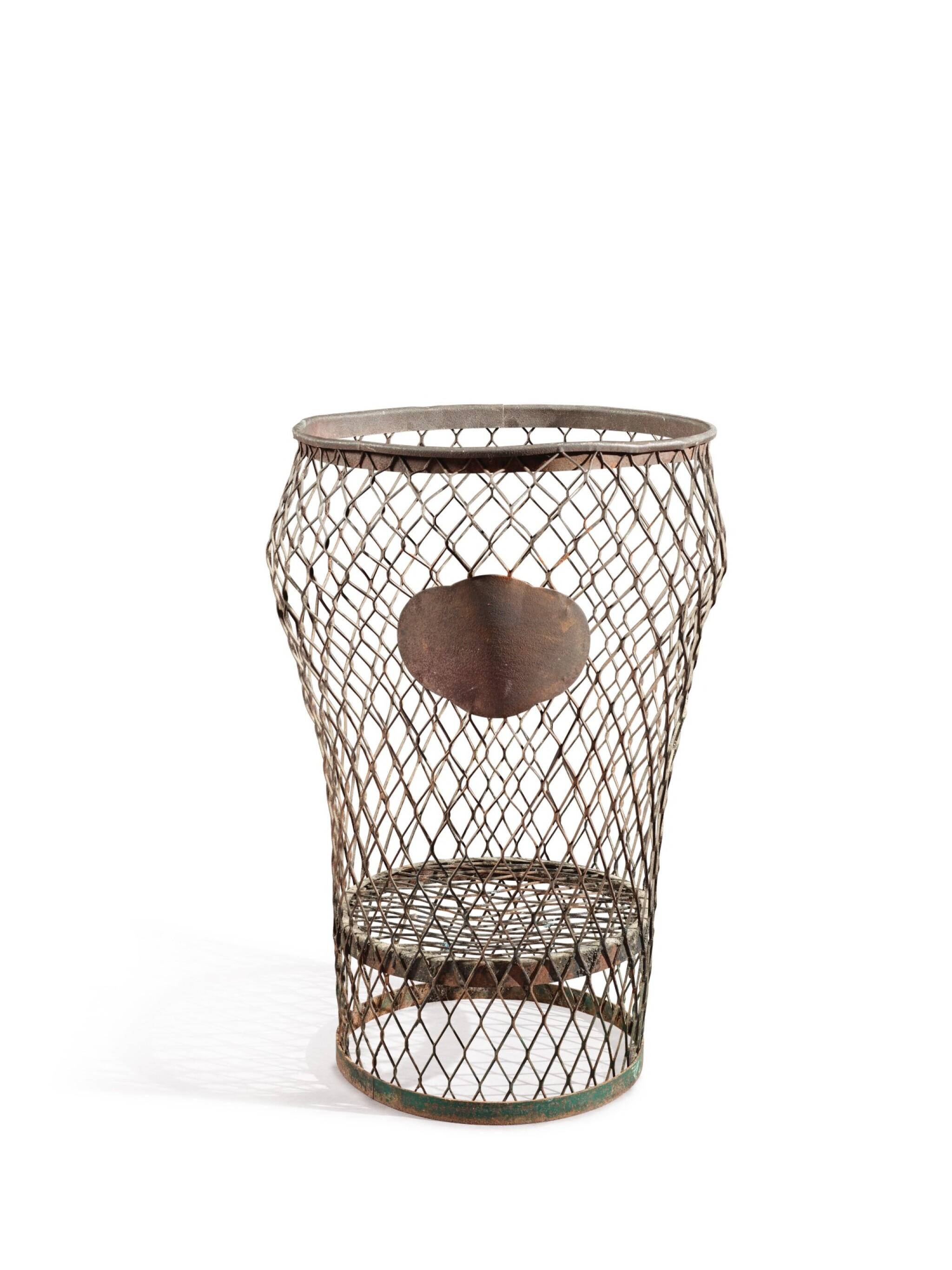 INVERTED BALUSTER-FORM WIRE-WORK BASKET, LATE 19TH CENTURY