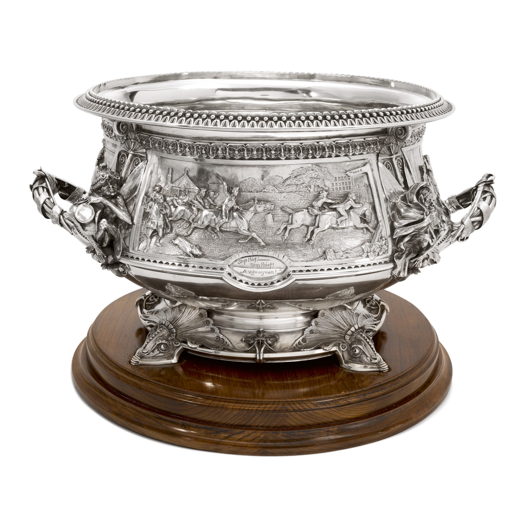 View 1 of Lot 265.  A VICTORIAN SILVER LARGE PUNCH BOWL, JOHN HUNT & ROBERT ROSKELL, LONDON, 1881.