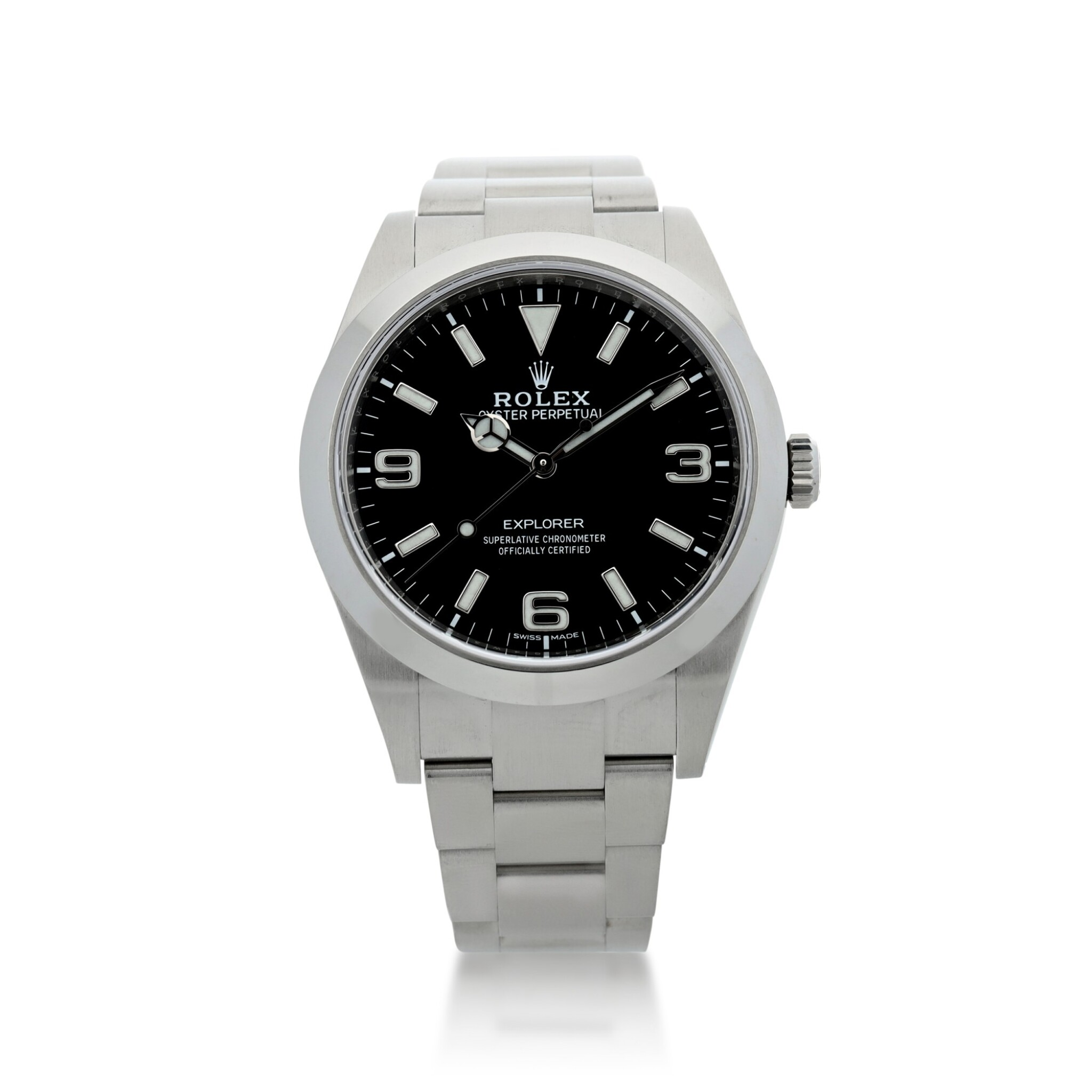 View full screen - View 1 of Lot 98. ROLEX   REFERENCE 214270 EXPLORER A STAINLESS STEEL AUTOMATIC WRISTWATCH, CIRCA 2019.