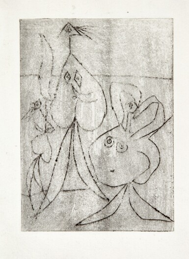 View full screen - View 1 of Lot 119. PABLO PICASSO | SUR LA PLAGE. TROIS BAIGNEUSES (B. 241; BA. 268).