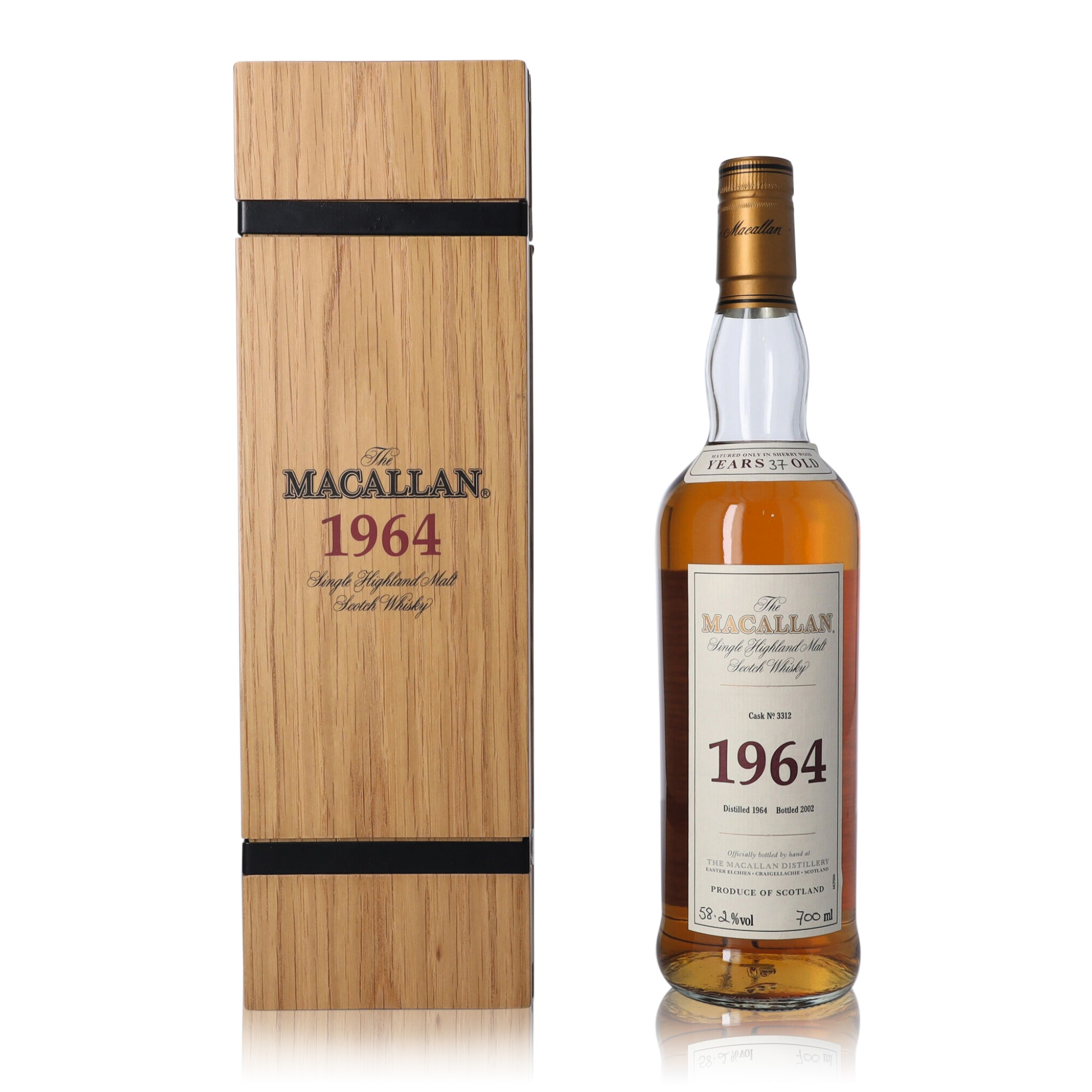 View full screen - View 1 of Lot 6. The Macallan Fine & Rare 37 Year Old 58.2 abv 1964 (1 BT70).