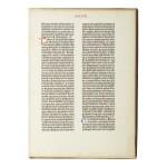 BIBLE IN LATIN | A leaf from the Gutenberg Bible. [Mainz: Johann Gutenberg and Johann Fust, 1455]