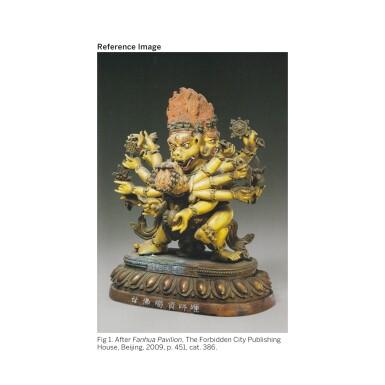 View 3. Thumbnail of Lot 309. THE GODDESS CARCIKĀ AND CONSORT, CHINA, BEIJING, QING DYNASTY (1644-1911),  QIANLONG PERIOD (1735-1796).