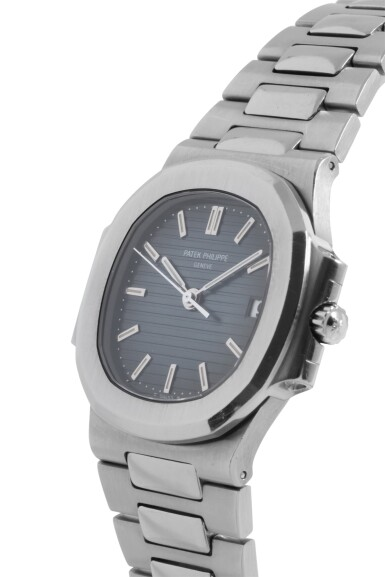 View 2. Thumbnail of Lot 3. PATEK PHILIPPE   NAUTILUS, REF 3800/1A STAINLESS STEEL WRISTWATCH WITH DATE AND BRACELET MADE IN 2003.
