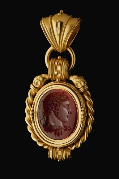 LUIGI PICHLER (1773-1854)  ITALIAN, ROME, CIRCA 1810 | INTAGLIO WITH A VICTORIOUS YOUTH AS HERCULES