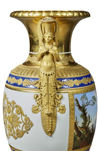 View 3. Thumbnail of Lot 126. A Rare and Impressive Porcelain Vase, Imperial Porcelain Factory, St Petersburg, period of Nicholas I (1825-1855), 1834.