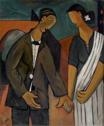 RAM KUMAR | Untitled (Man and Woman Holding Hands)